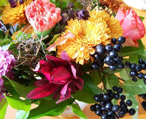 bouquet bunch of flowers mixed flower