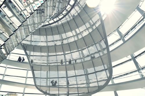 bundestag dome people