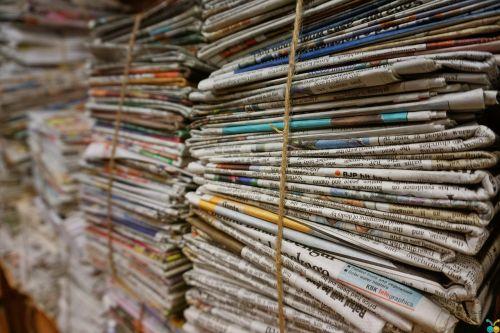 bundle jute rope newspaper