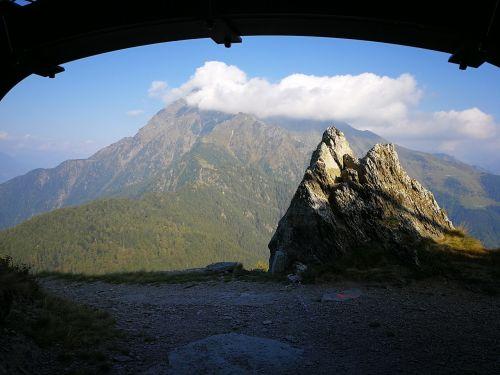 bunker monte legnone clouds