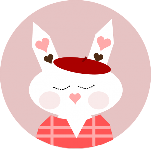 bunny rabbit hearts