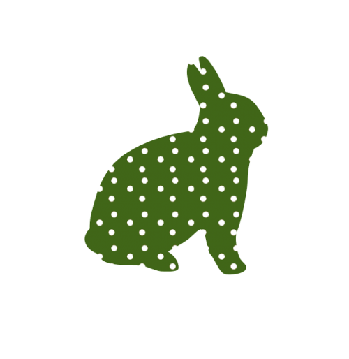 bunny easter green
