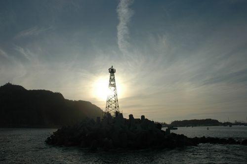 buoy lighthouse sea