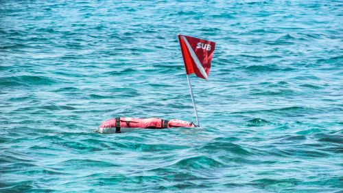 buoy flag red
