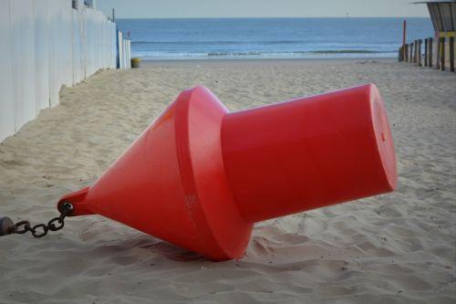 buoy red buoy sea