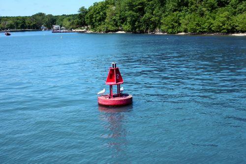 Buoy Near Island