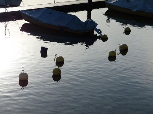 buoys river boats