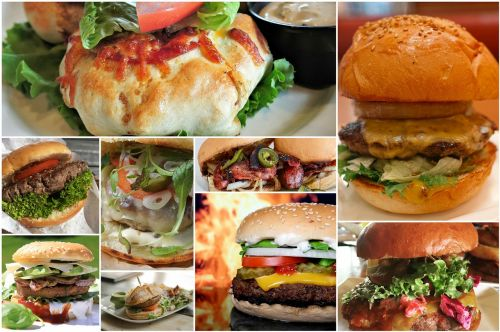burger hamburger collage