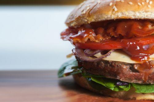 burger close-up fast food