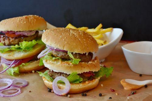 burger hamburger roll