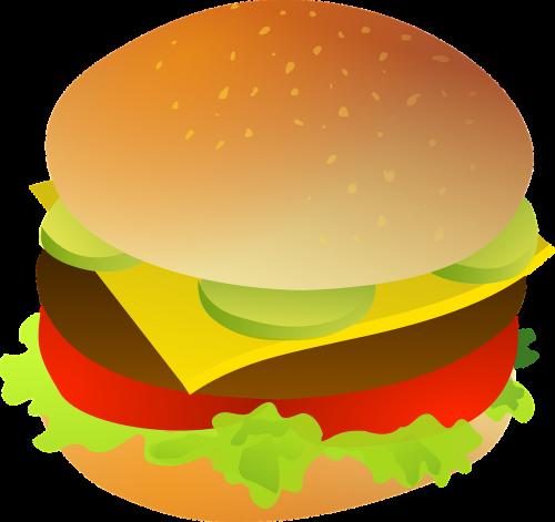 burger fast food junk