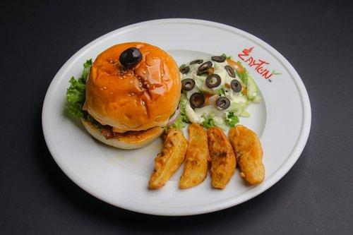 burger  spicy  healthy