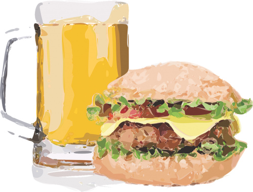 burger brew beer