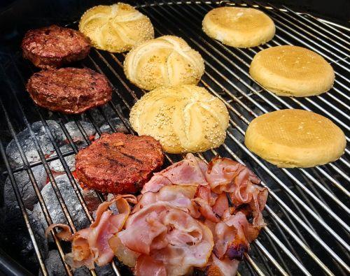 burgers bbq meat