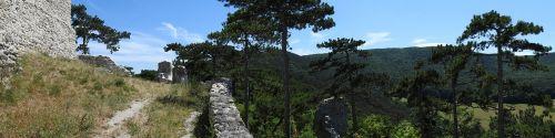 burgruine landscape panorama