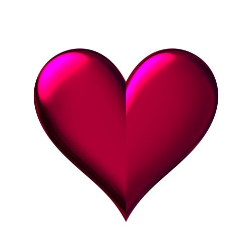 Burgundy Heart