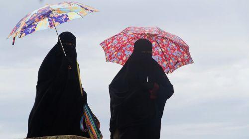 burka umbrella disguise