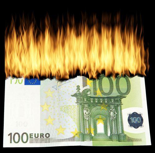 burn money burn geldschein destroy money