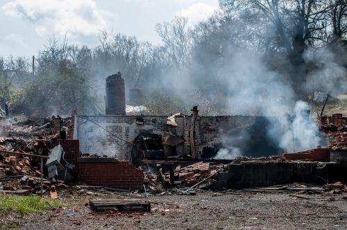 Burned Down House Ruins