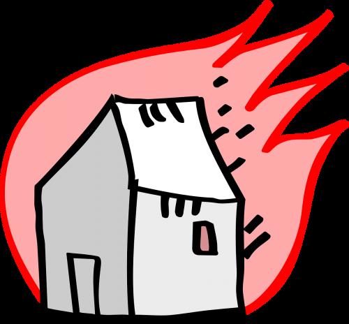 deginimas,Ugnis,namas,deginimas,blaze,nemokama vektorinė grafika