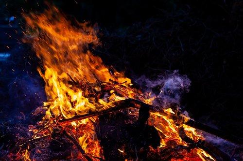 burning at night  burning  fire