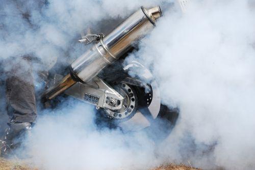 burnout burning rubber motorcycle