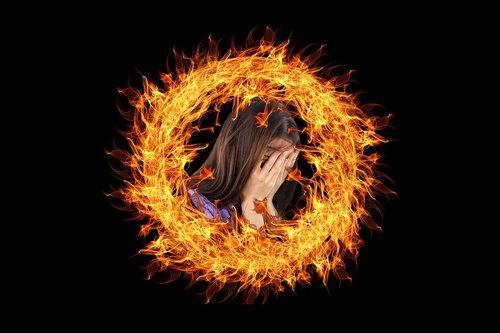 burnout  woman  burn