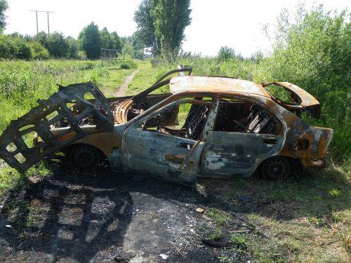 burnt car vandalism