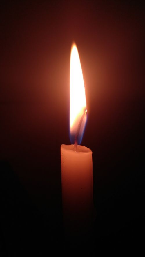 burnt flame candle
