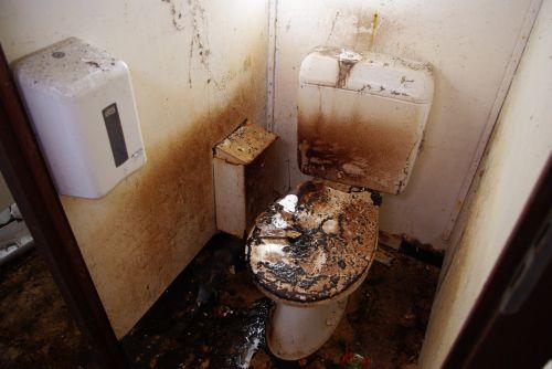 Burnt Toilet