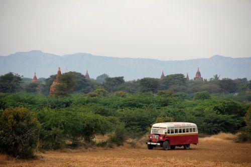 bus pagoda myanmar