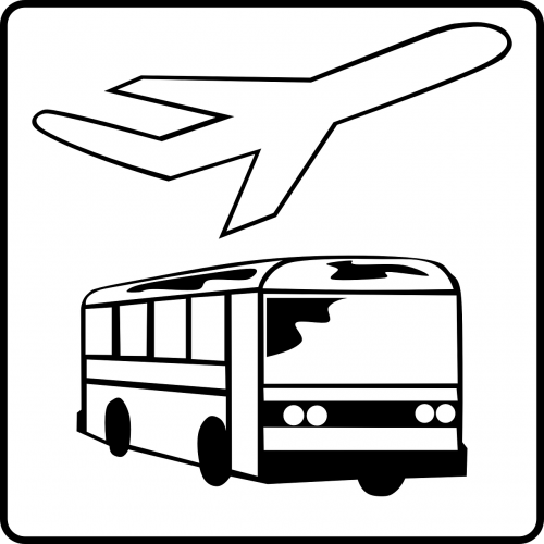 bus hotel plane