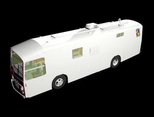 bus 3d modeling motor home
