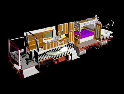 bus 3d modelling tour