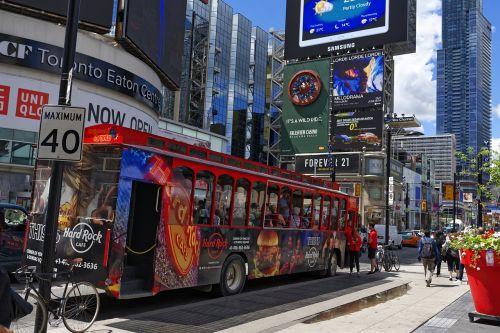bus board advertisement