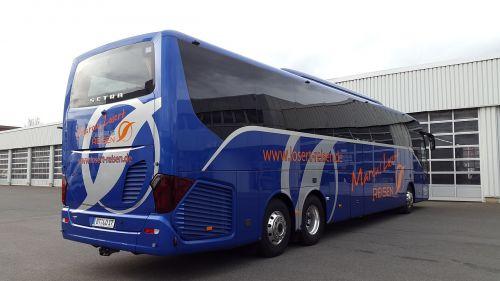 bus blue sky
