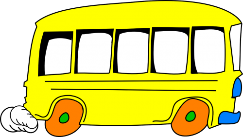 bus yellow cartoon
