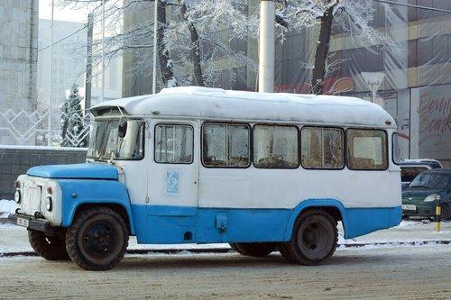 bus  kyrgyzstan  old