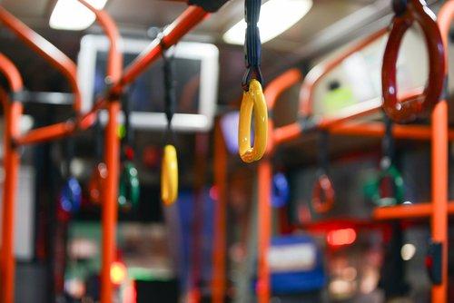 bus  handle  yellow