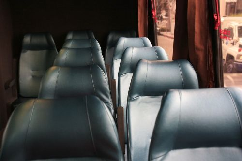 bus bench leather