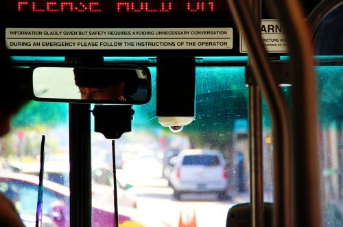 bus urban street