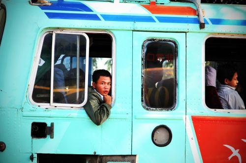 bus passenger bus service bus