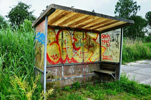 bus stop bus shelter shelter