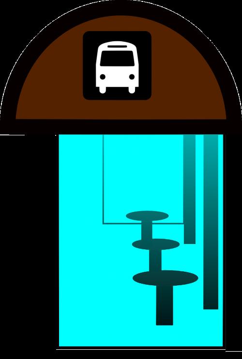 bus stop bus halt