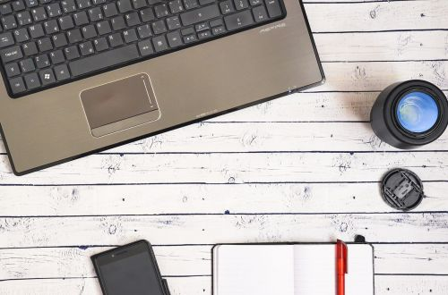 business computer work desk