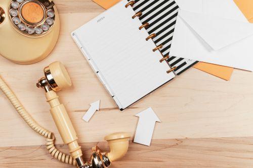 business phone notebook