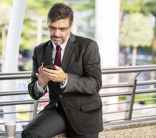 business  businessman  chatting