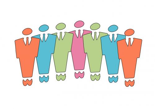 business businessmen silhouette