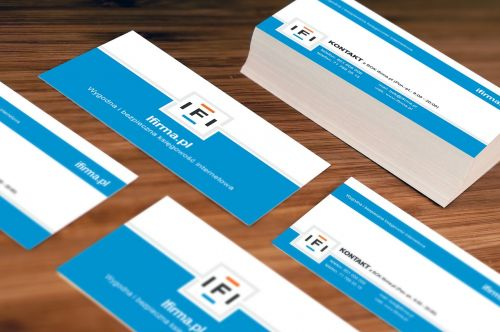 business card company address