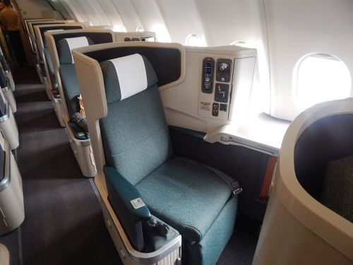 business coach flight seating